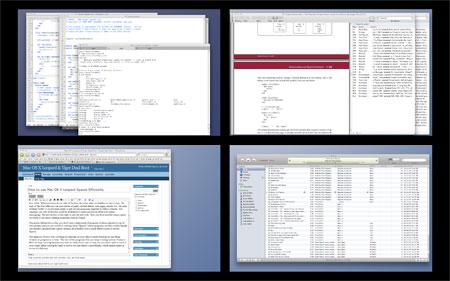 Mac OS X Spaces Virtual Desktops