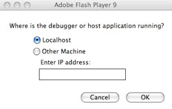 Flash Debugger Pop-up question