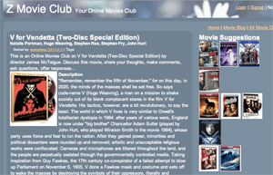 Online Movies at Z Movie Club - Club Page - V for Vendetta